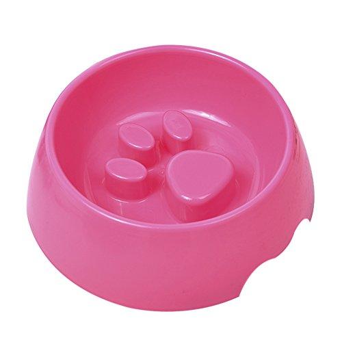 jingyuu braun Katze Palm Form Fressnäpfen Lebensmittel Wasser perfekt Dish Feeder für Hunde und Katzen, 17.5 * 6.0CM, Rose (Palm-perfekte)