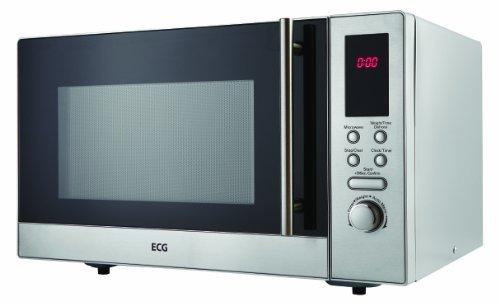 ECG MTD 231 S, 23 l de capacité, 8 programmes, Commande numérique, Puissance de sortie du micro-ondes 800 W, Finition en acier inoxydable