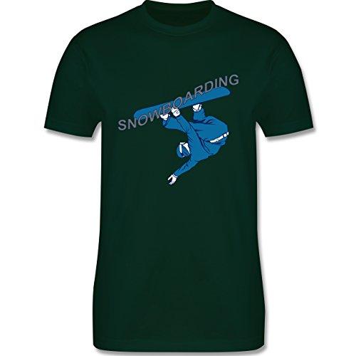 Wintersport - Snowboarding - Herren Premium T-Shirt Dunkelgrün