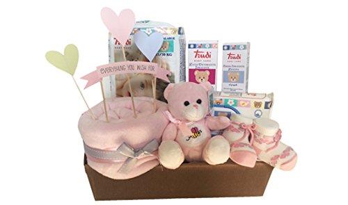 IRPot - Cesto regalo nascita vassoio Avana - Kit (Rosa)