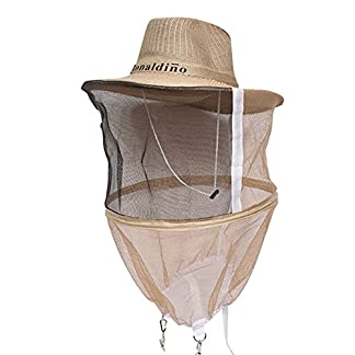Farm & Ranch Beekeeping Cowboy Hat Mosquito Bee Insect Net Veil Head Face beekeeper equipments 22