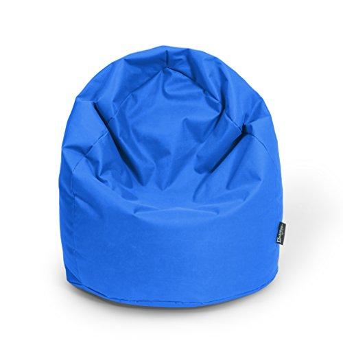 BuBiBag Sitzsack Tropfenform Beanbag Sitzkissen für In & Outdoor XL 300 Liter bis XXXL 470L mit Styropor Füllung in 23 versch. Farben (XXXL Ca. H : 130cm - Dm : 85cm ca. 490 Liter, blau)