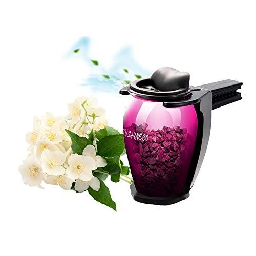 FancyAuto Lufterfrischer für Auto Air Vent Zeolith Lufterfrischer entfernen Geruch Parfüm Duft Interior Aromatherapie Auto Ornamente Solid Air Luftreiniger Aroma(Lila)