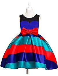 Byjia Children dress Bambini Vestito Girocollo Banda Nozze Ragazze Festa  Principessa Bowknot Gonna. 100- ae2a3c74e9b9