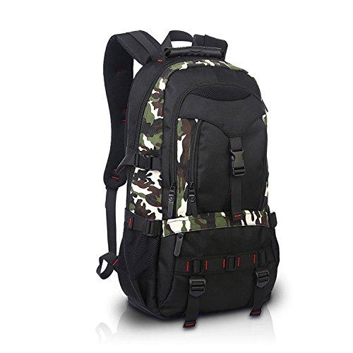 FANDARE Rucksäcke Schulrucksack Reisen Wanderrucksäcke Camping Laptop 17'' Zoll Damen Herren Wasserdicht Oxford Polyester Camo Camo