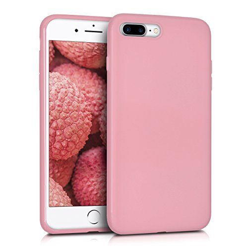 Kwmobile cover per apple iphone 7 plus/8 plus - custodia in silicone tpu - back case protezione posteriore per cellulare rosa matt