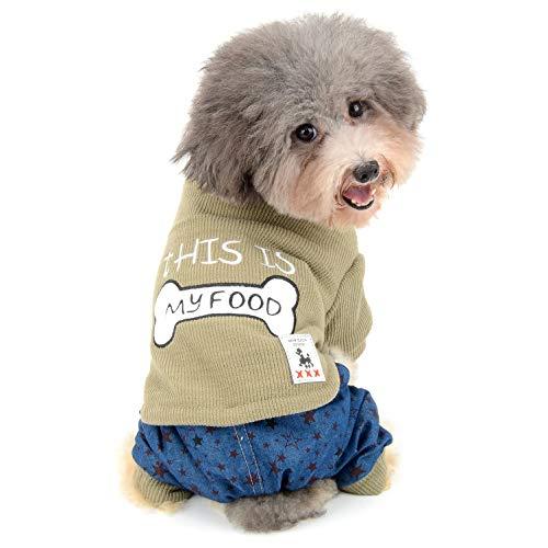 Ranphy Hunde-Pullover, Fleece-gefüttert, Knochenmuster, für den Winter, kalte Wetter, warme Katze, für Mädchen und Jungen