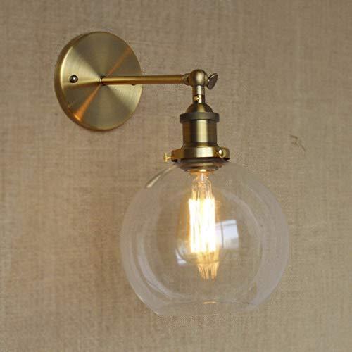 FDA3H / Wandleuchte Globe Shade Mini Wandleuchte Classic Vintage mit Klarglas-Gold -