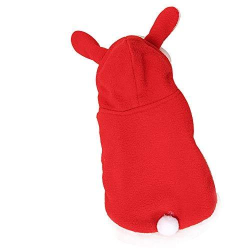 Tier Kostüm Weibliches - DaQao T-Shirt Kapuzenpullover probeninmappx Hundebekleidung Hoodies für den Winter für kleine Hunde Kostüm mit Ohren , Rot weiblich Tier