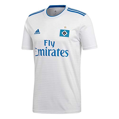 adidas Herren Hamburger SV Home Kurzarm Trikot White/HSV Blue L