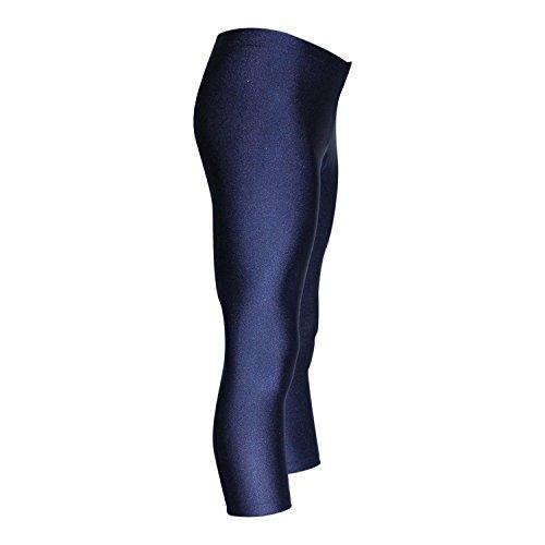 GymStern 3/4 Caprihose Turnhose aus bi-elastischen Glanz Lycra   ML110875 Farbe dunkelblau, Größe 164 Lycra Capri Hose