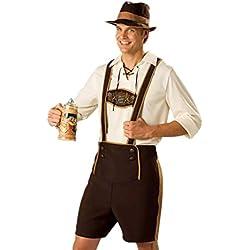 Disfraz de Traje bavaro de hombre vestido de Oktoberfest Costume suit Regional de Baviera Cosplay para Halloween Carnaval Talla L