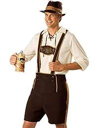 Disfraz de Traje bavaro de hombre vestido de Oktoberfest Costume suit Regional de Baviera Cosplay para Halloween Carnaval