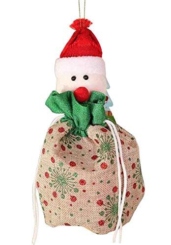 Sacchetto regalo natalizio con decorazioni natalizie sacchetto regalo natalizio con sacchettino [c]