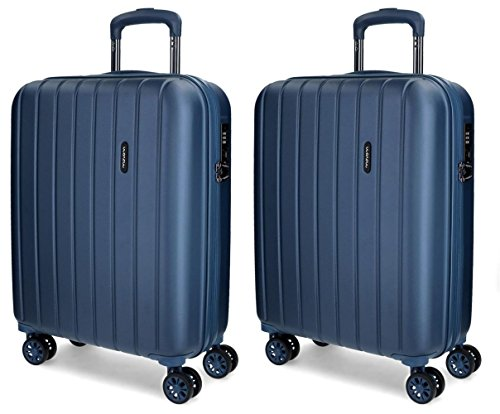 Juego de maletas de cabina Movom Wood rígidas 55cm Azul Marino