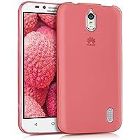 kwmobile Funda para Huawei Y625 - Case Ultra Slim de TPU sílicona - Cover trasero en coral