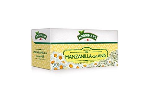 Hornimans - Bolsitas de té manzanilla con anis clásicas, 25 x 1,4 g