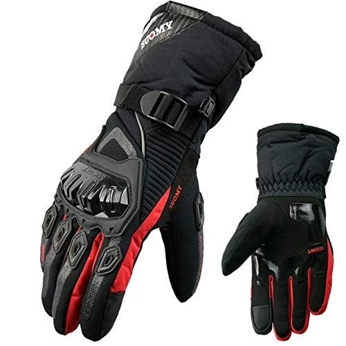 Berrd Guanti moto Impermeabile e antivento Protezione per touchscreen caldo invernale suomy rosso L