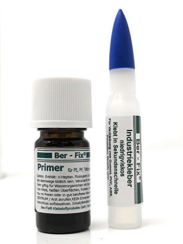 Ber-Fix Klebstoffset 1 zum Kleben von Pe PP Silikon Teflon im Röhrchen