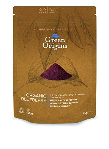 Green Origins Bio-Heidelbeer-Pulver, 1er Pack (1 x 75 g)