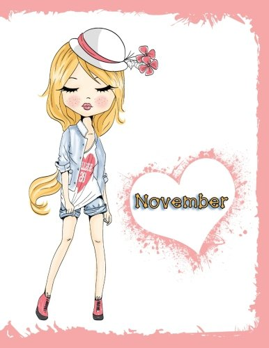 November: Personalized Book with Name, Journal, Notebook, Diary, 105 Lined Pages, 8 1/2