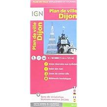 Dijon Plan de Ville 1 : 12 500 (Ign Map)