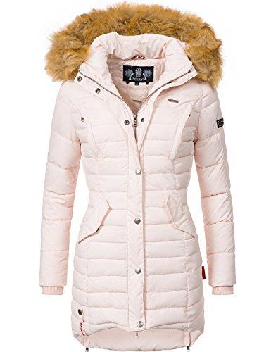 Rosa Winter-mantel-jacke (Navahoo Damen Winter Mantel Steppmantel Täubchen (vegan hergestellt) Rosa Gr. S)