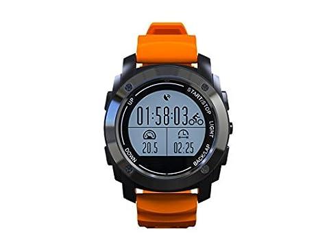 Smart Watch Profi Sportausrüstung GPS Positionierung Druck Temperatur Höhe Herzfrequenz Erkennung Reiten Bergsteigen Laufuhr , orange