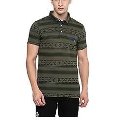 Yepme Men's Green Cotton Polos - YPMPOLO0379_L