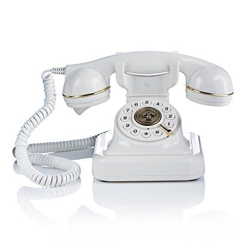 Briebe Vintage Retro - Teléfono analógico con cable, diseño estilo