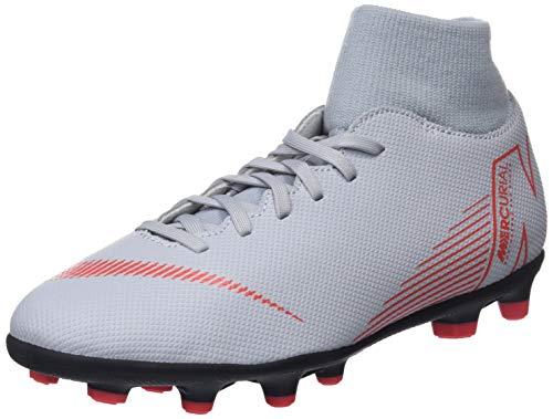 Nike Unisex-Erwachsene Superfly 6 Club Fg/mg Sneakers, Mehrfarbig (Wolf Grey/Lt Crimson/Black 001), 42.5 EU