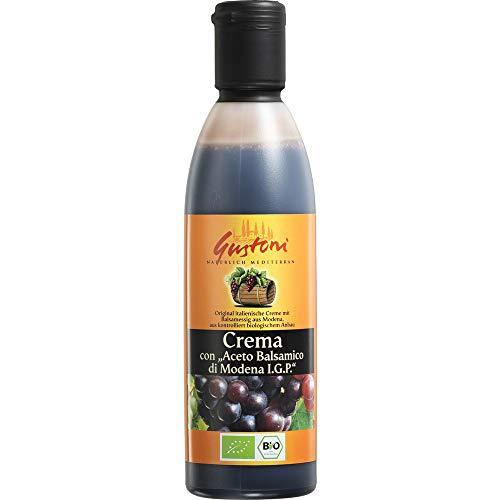 Gustoni Bio Crema con Aceto Balsamico, di Modena (6 x 250 ml)