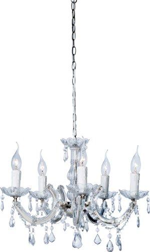 Kare Leuchte, Acryl, Metall, Kunststoff, Silber, transparent, 46 x 46 x 90 cm, 2 Einheiten