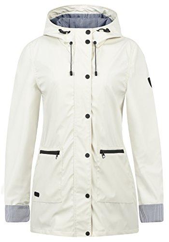 Desires Becky Chaqueta Impermeable Chubasquero Abrigo para Mujer con Capucha, tamaño:L, Color:Vanilla...
