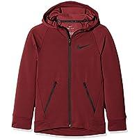 Nike B Nk Dry FZ Hyper FLC Sudadera, Niños, Rojo (Dark Team Red), L