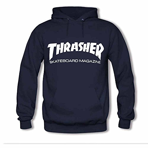 Womens Hooded Sweatshirt Thrasher Logo Skateboard Magazine Cotton Hoodie XL