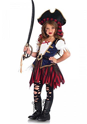 Kostüme Mädchen Pirate Kinder (Caribbean Pirate Mädchen Kostüm von Leg Avenue Piratin Kinderkostüm,)