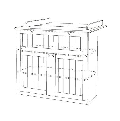 roba 58771 – Dream World 2 Wickelkommode inkl. Wickelansatz 104 x 75 cm mit 2 Türen, 1 breites Schubfach, 1 Boden - 3