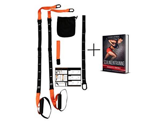 SYNOX Schlingentrainer; Sling Trainer mit Türanker für Fitness und Krafttraining mit beigefügter Kurzanleitung und Bonus Ebook