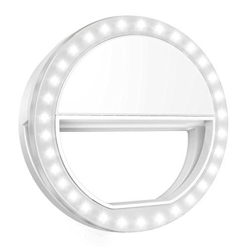 ORIA Selfie Licht Ring, 33 LED Selfie Kamera Licht mit 3 Stuff Helligkeit, für iPhone, Android Smartphones und Tablets - Glühlampen-dimmer Umschalten