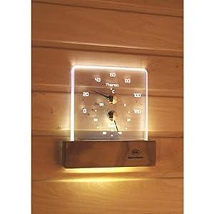 Nikkarien Sauna LED ThermoHygrometer – EEK: A+ Spektrum A++ bis E – Polycarbonat