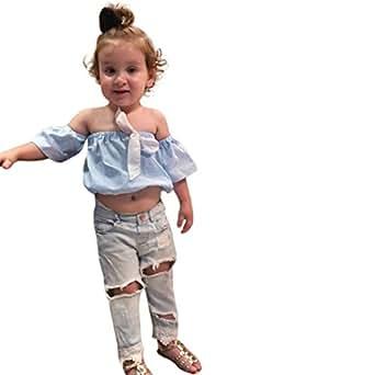 Wanshop Baby-Girl Jumpsuit Sunsuit Set Newborn Baby Girl Solid Lace Dress Floral Romper Sleeve Playsuit Clothes Outfit