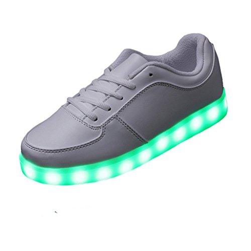top Farbe Schuhe kleines Aufladen Herren C4 Für Sport junglest® Lackleder 7 present High Unisex Usb Leuchtend Led Handtuch Dam Glow Turnschuhe Sneakers XnZ4wP0