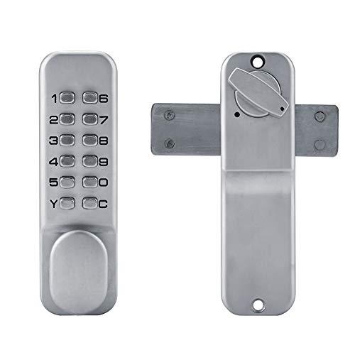 FTVOGUE 1-11 Mechanischer Digitalcode Tastenkombinationsschloss Schlüsselloses Türschloss Türdrücker Passwortsicherheit Coded Cam Lock für Sicherheit und Sicherheit Zinklegierung -