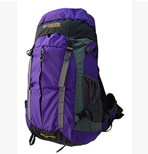 Wasserresistent Wandern Rucksack Reise Rucksack Tasche Knapsack Outdoor Sport Pack,Gray Purple