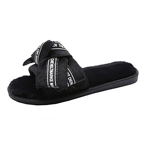 Chaussures Femme Claquette Rawdah Plat Avec Diapositives Flip Flop Bow