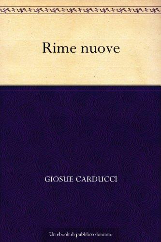 Rime nuove (Italian Edition)