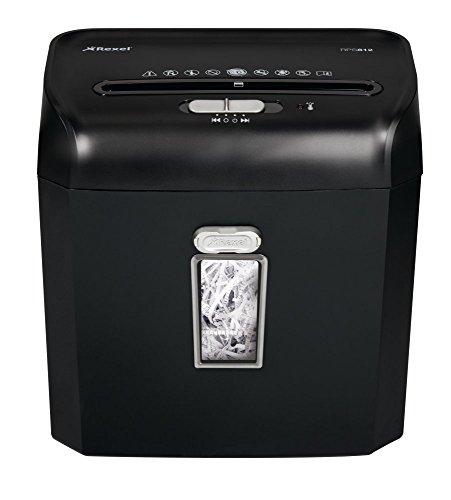 Promax-serie (Rexel Promax RPS812 Aktenvernichter für persönliche/geschäftliche Zwecke, Streifenschnitt, Manueller Einzug, 12L Abfallbehälter, 8 Blatt Kapazität,, Schwarz,  2101826A)