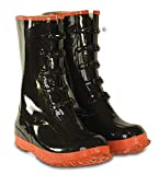 CLC Custom Leathercraft Rain Wear R22007 5 Buckle Black and Red Rubber Boot, Size 7