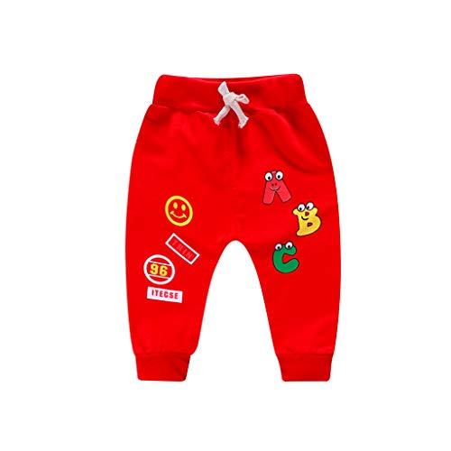 Pantalones Bebé, Chandal Bebé Recién Nacido bebé niña niño Carta de Dibujos Animados Impresos...